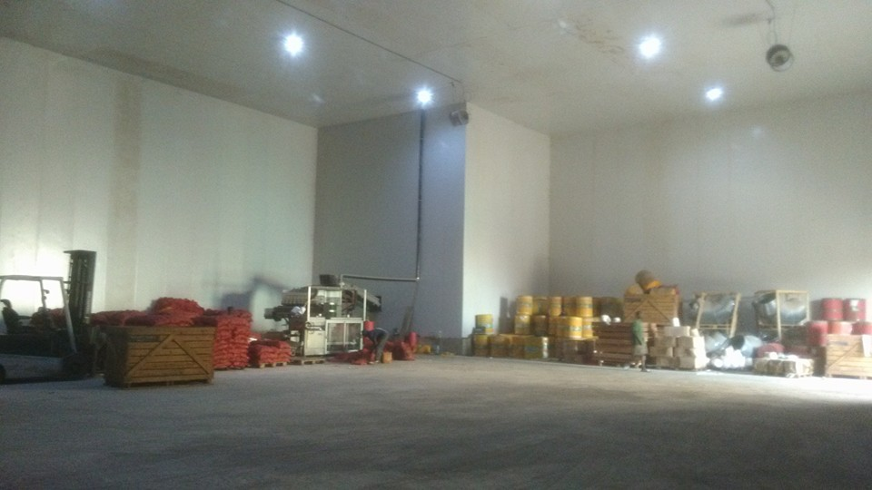 Mali/Bamako 4500 m2 indoor space potatoe processing plant and cold storages has been built successfully.