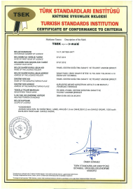 TSI Quality Conformity Certificate